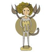 Scorpio cartoon girl