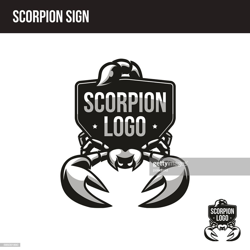 scorpion logo with place for your text
