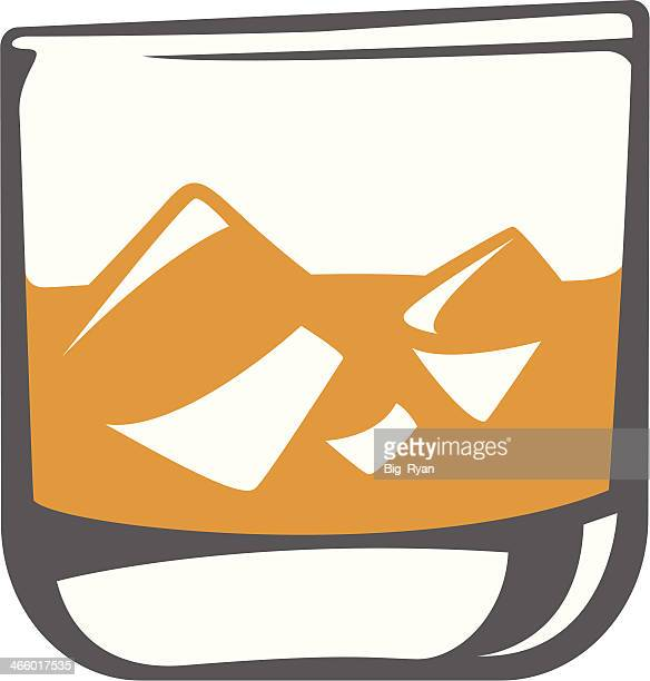 scotch glass - scotch whiskey stock illustrations, clip art, cartoons, & icons