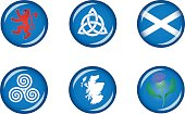 Scotland Glossy Icon Set