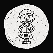 scotland man doodle