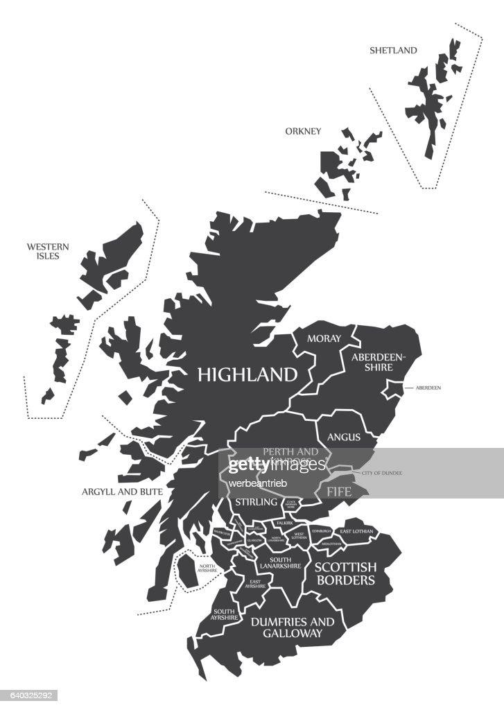 Scotland Map labelled black