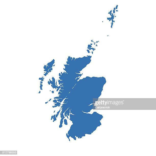 scotland map - scotland stock illustrations