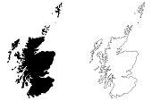 Scotland map vector