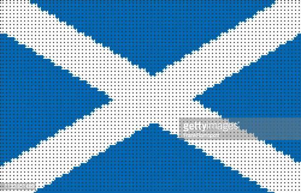 Schottland pixelte Vektorfahne