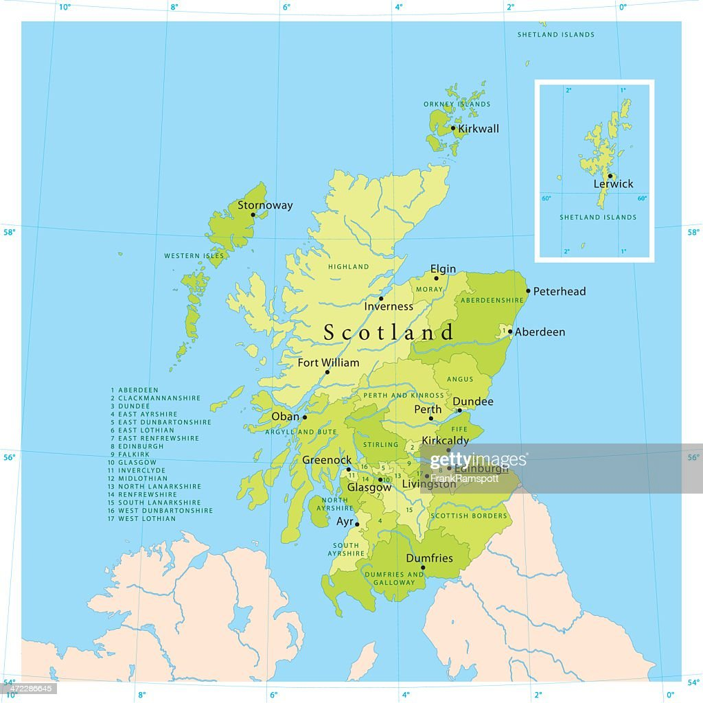 Scotland Vector Map High Res Vector Graphic Getty Images