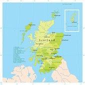 Scotland Vector Map