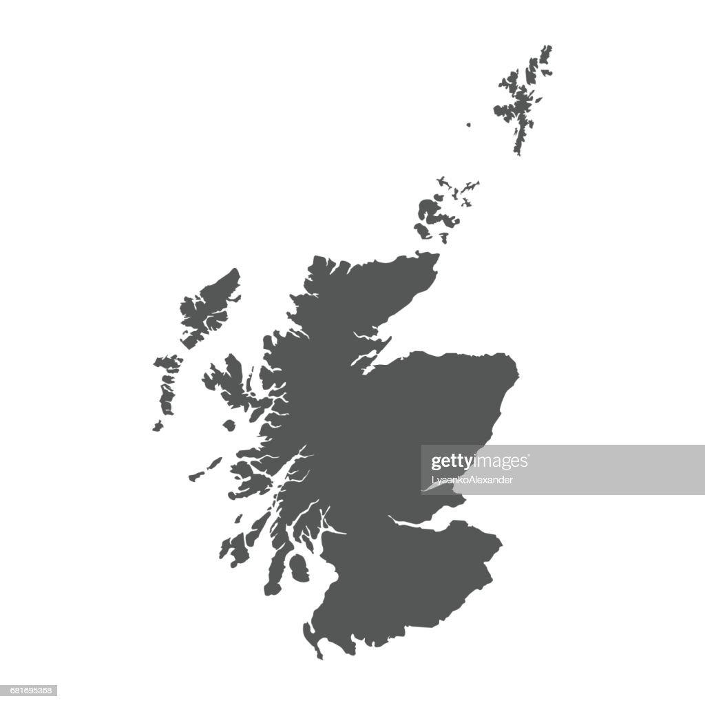 Scotland vector map.
