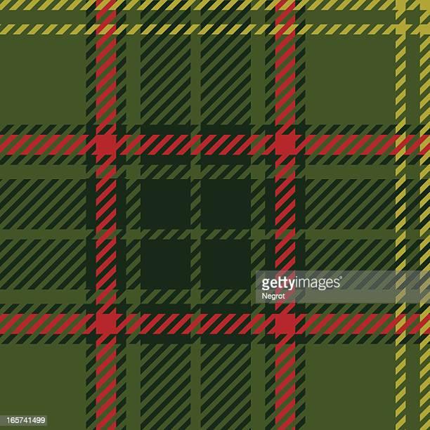 Scottish green tartan.