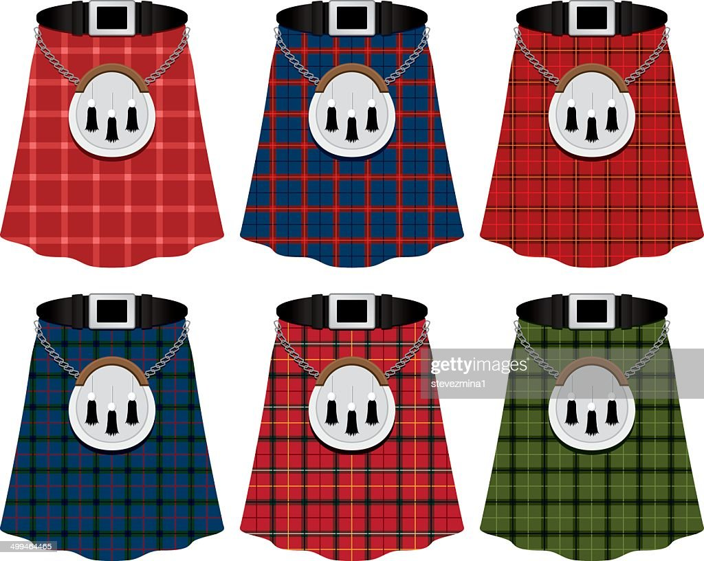 Scottish Kilts : Stock Illustration