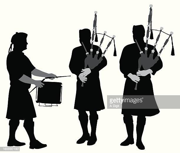 Scottish Music Vector Silhouette