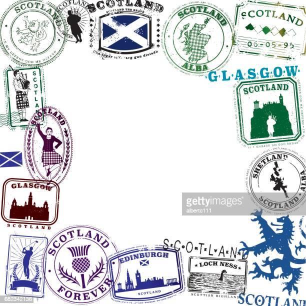 Scottish Vintage Travel Stamp Layout
