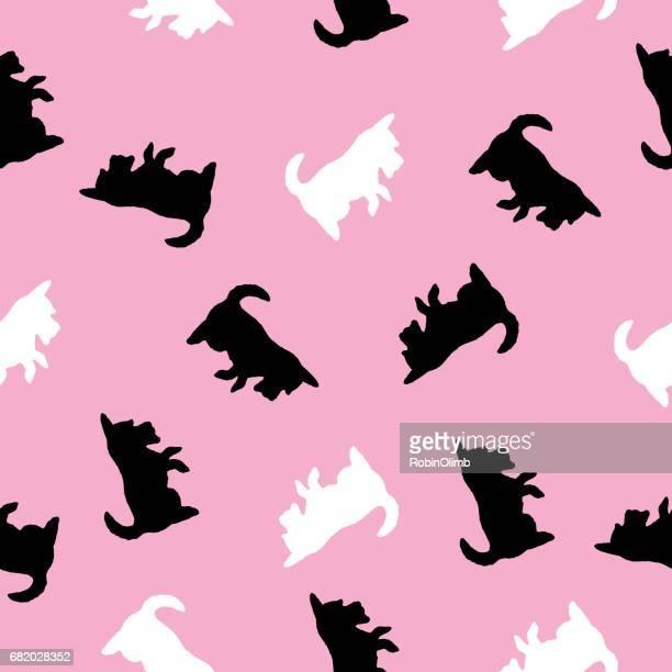 Scotty Dog Seamless Pattern