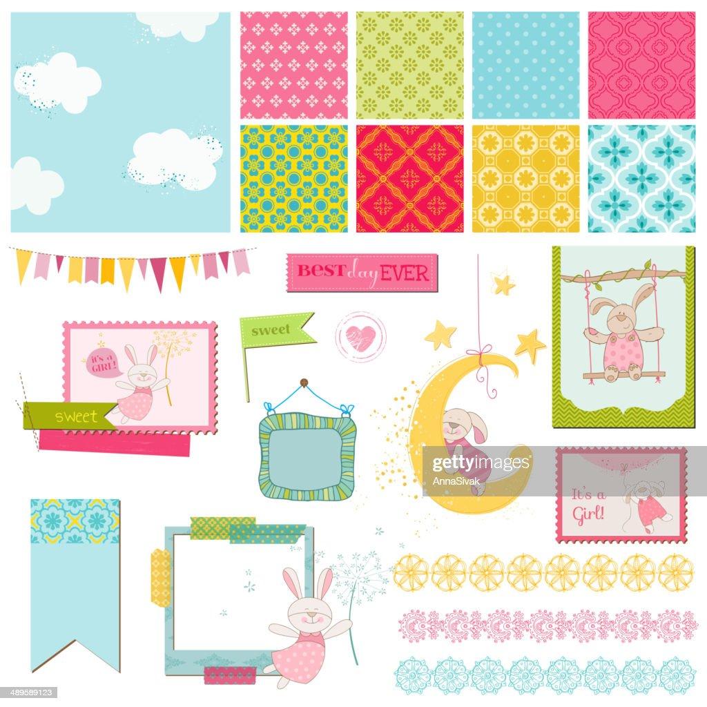 Scrapbook Design Elements - Baby Bunny Sweet