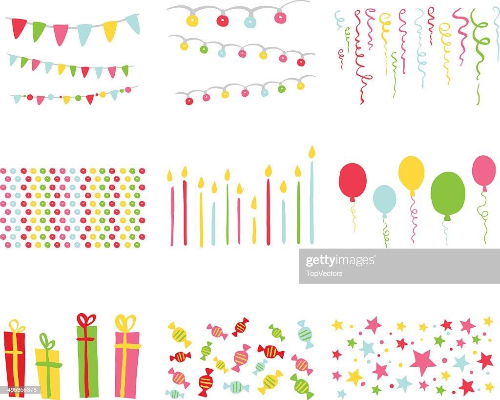 Scrapbook Design Elements Birthday Party Set