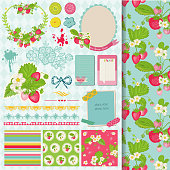 Scrapbook Design Elements - Strawberry Shabby Chic Theme