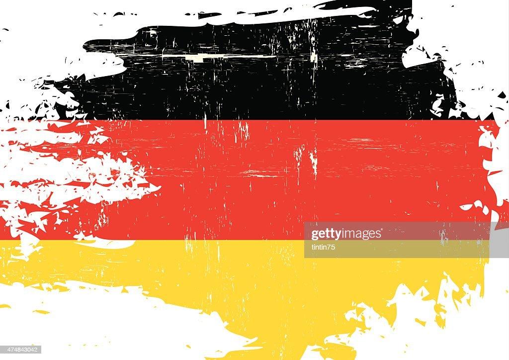 Scratched german Flag