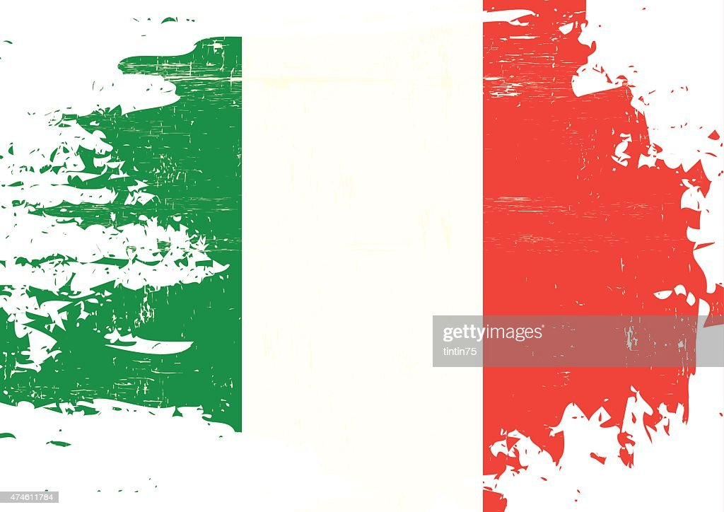 Scratched italian Flag