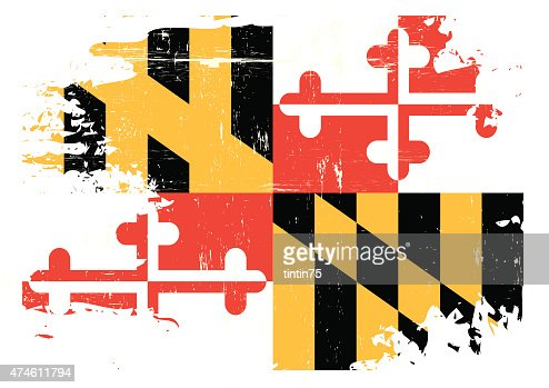 Super Scratched Maryland Flag Vector Art | Thinkstock AT32