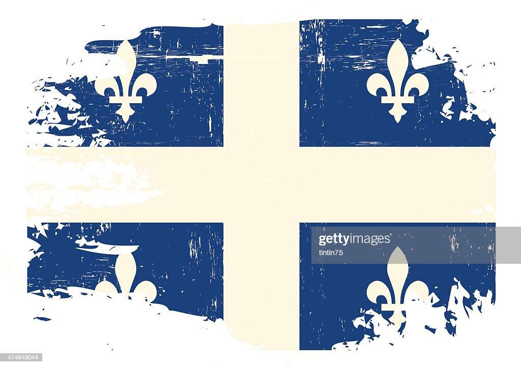 Scratched Quebec Flag