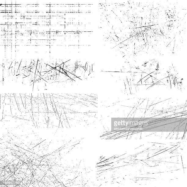 scratches - weathered textures stock illustrations