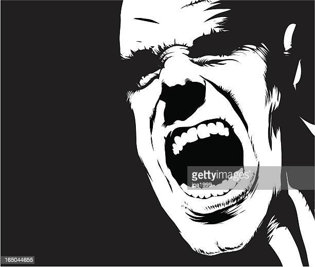 scream - high contrast stock illustrations