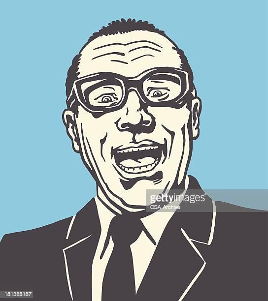 screaming 男性 - キッチュ点のイラスト素材/クリップアート素材/マンガ素材/アイコン素材
