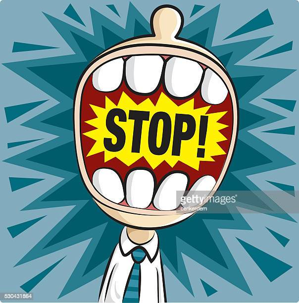 screaming office worker - protestor stock illustrations, clip art, cartoons, & icons