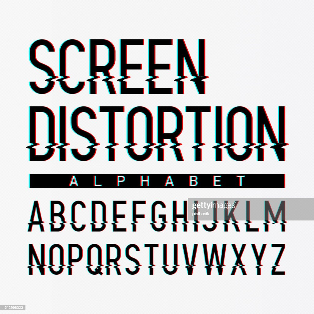 Screen distortion alphabet