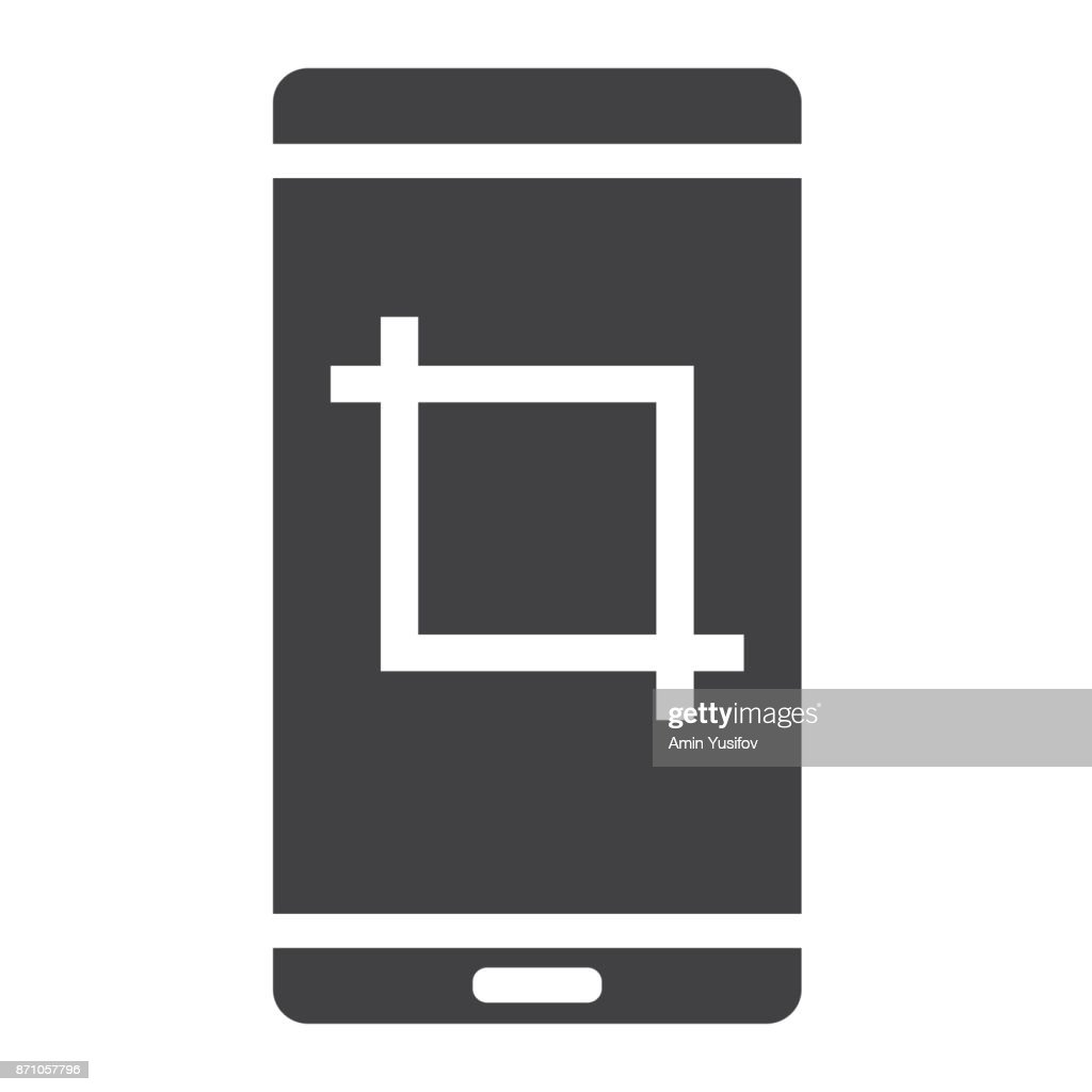 Screenshot glyph icon, web and mobile, camera sign vector graphics, a solid pattern on a white background, eps 10.