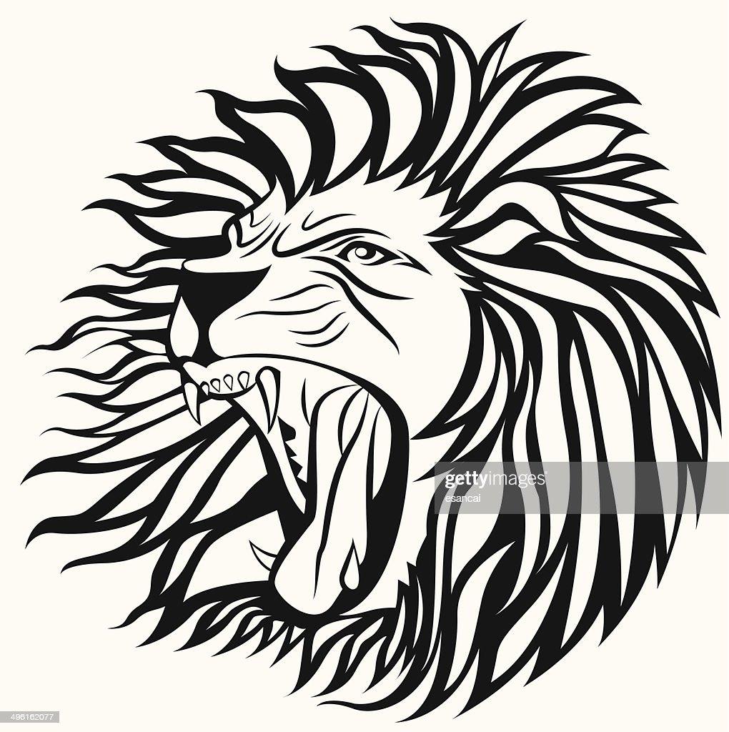 screming lion vector