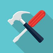Screwdriver and hammer icon