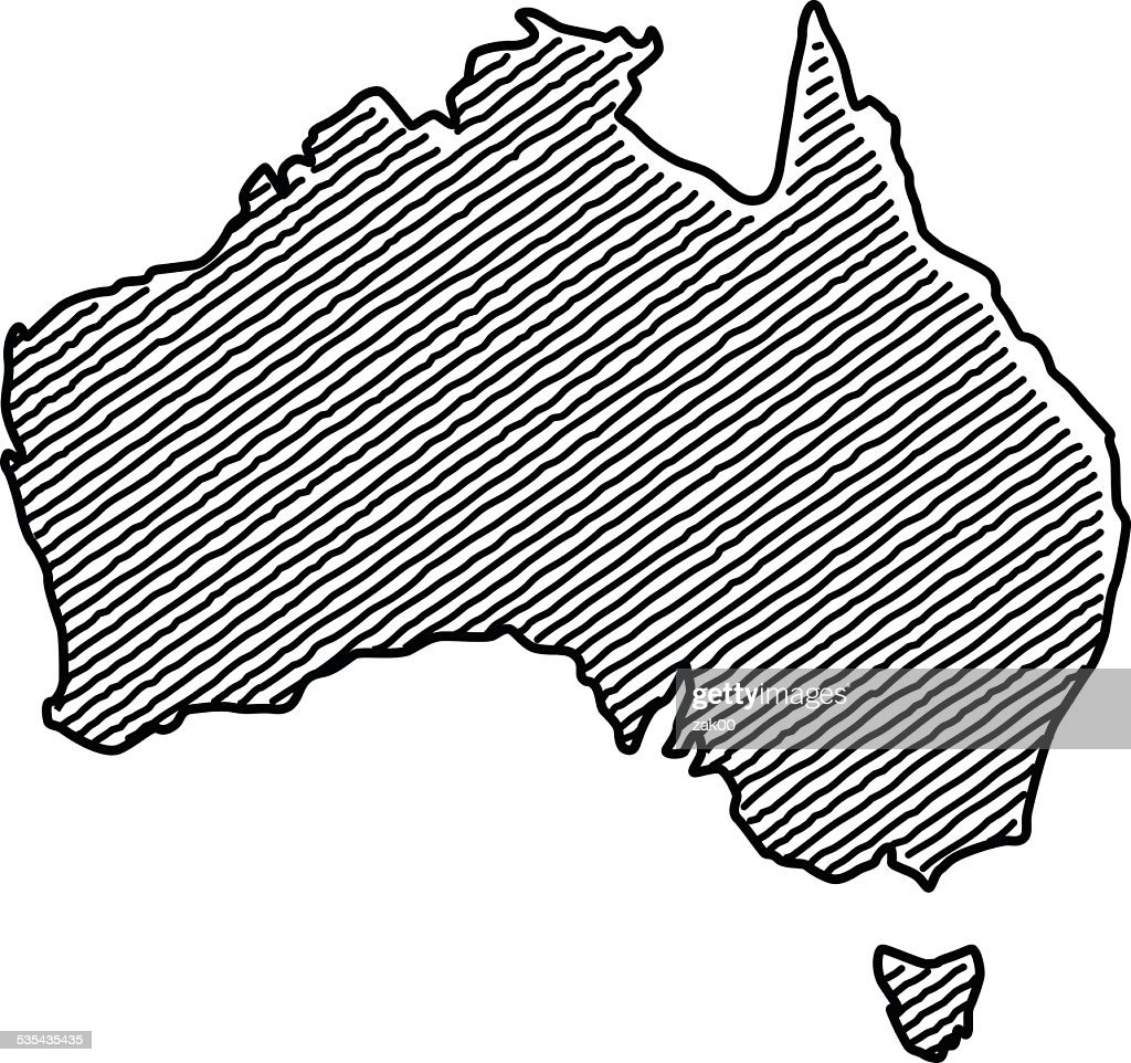 Scribble Map of Australia