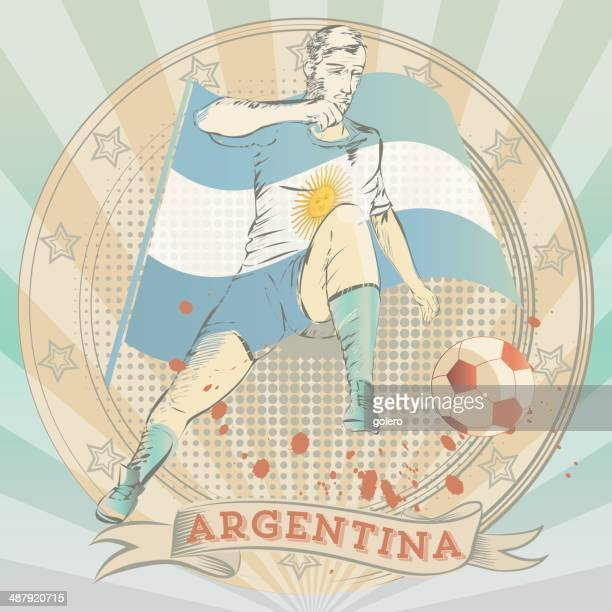 scribble of an argentinian soccer player
