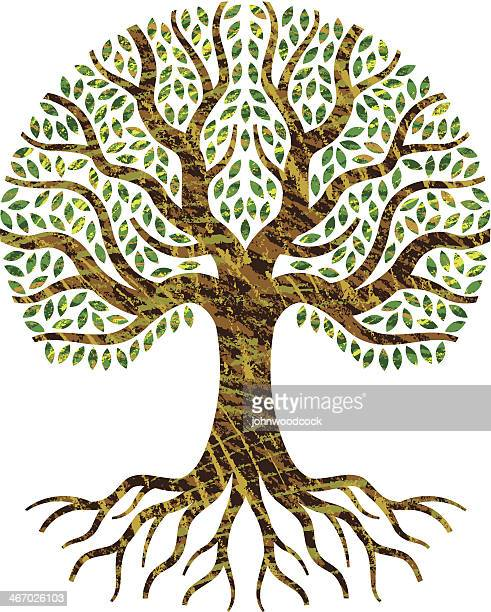 scribble tree of life. - root stock illustrations, clip art, cartoons, & icons