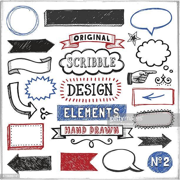 Scribbled Design Elements