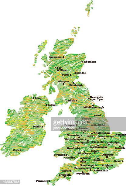 Scribbled UK map illustration