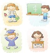 scribbles: back to school kids