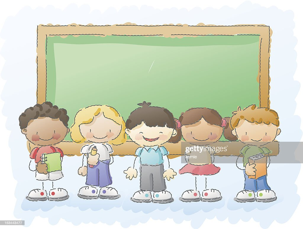 scribbles: kids in the classroom