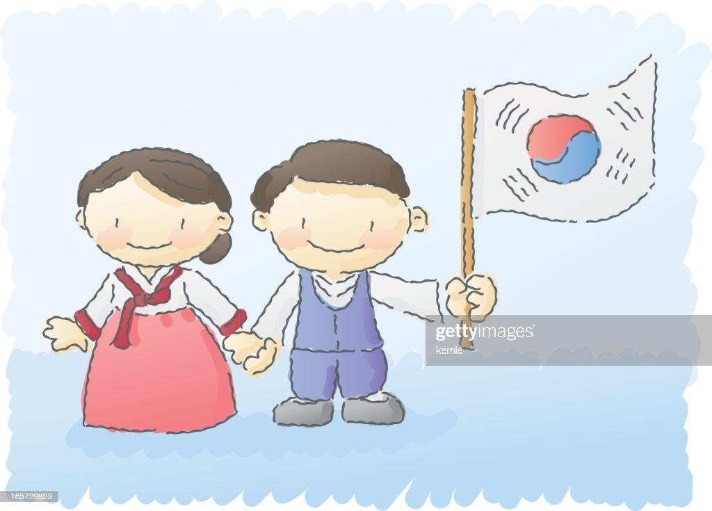 scribbles: south korean kids