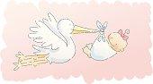 scribbles: stork (girl)