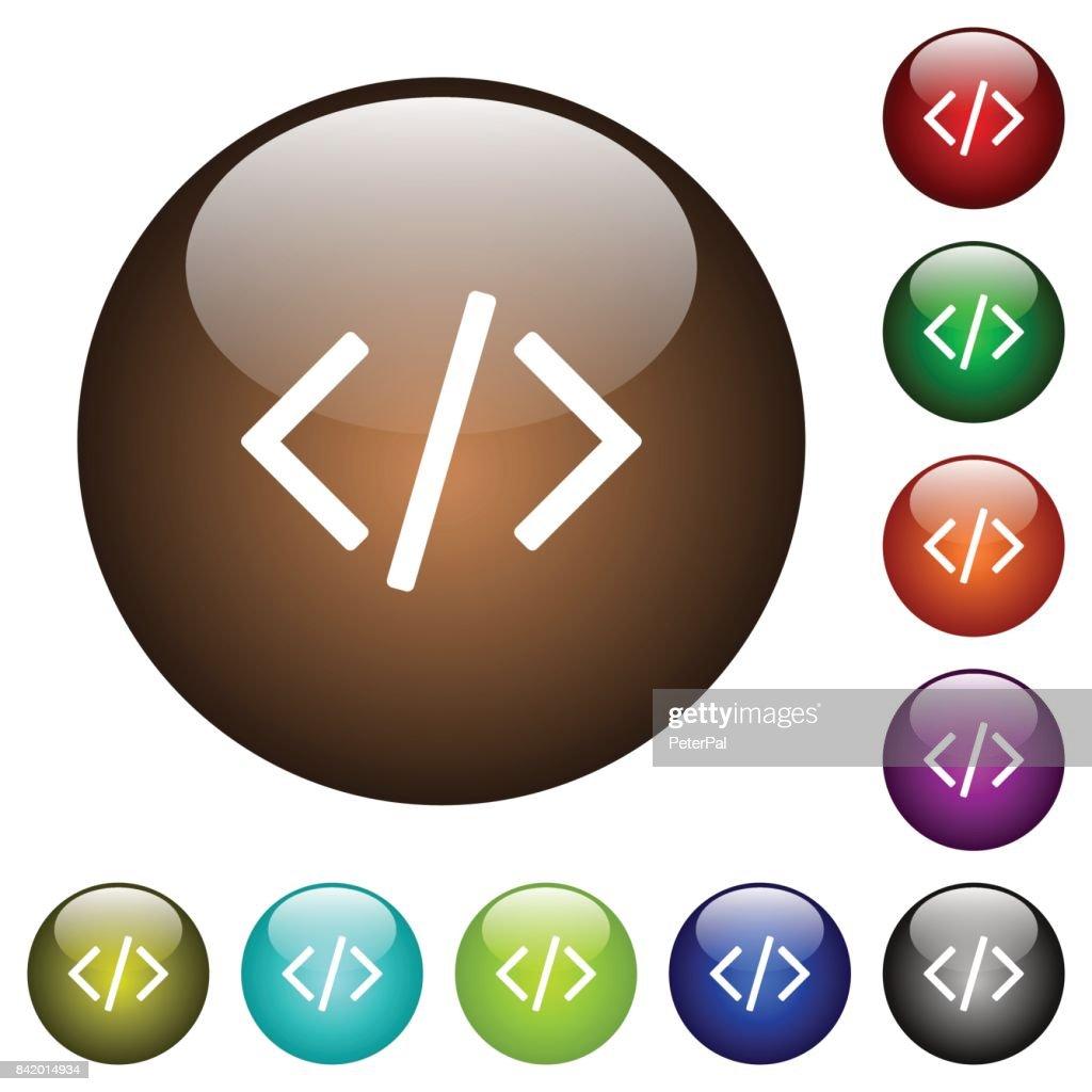 Script code color glass buttons