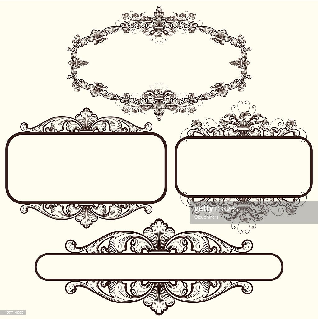 Scroll And Flower Frames Vector Art | Getty Images