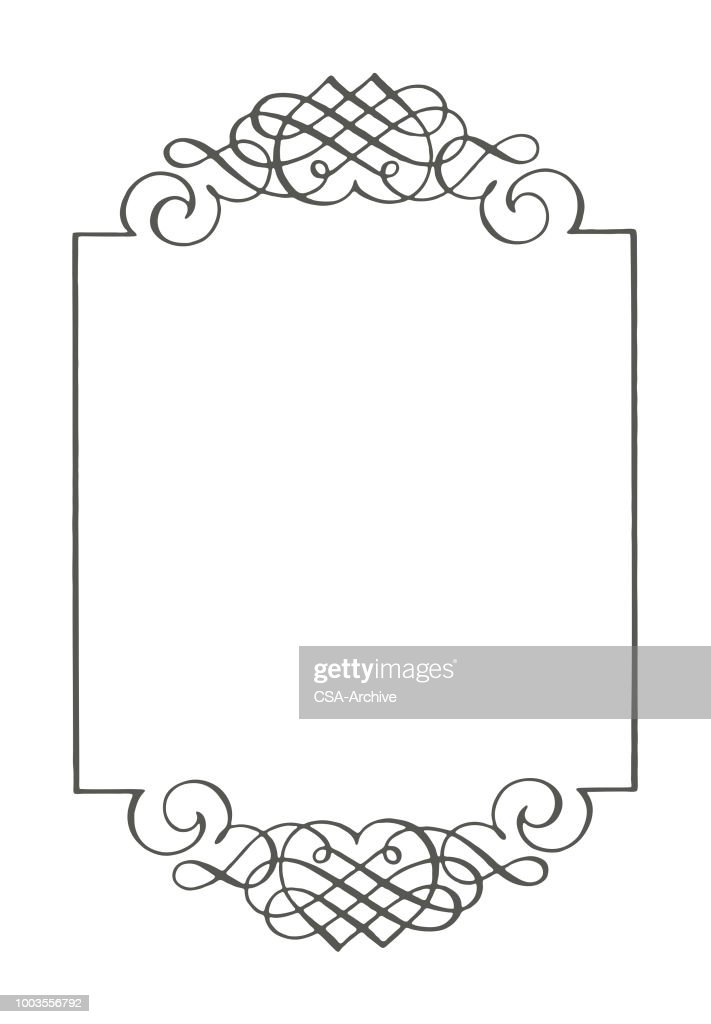 scroll border vector art getty images
