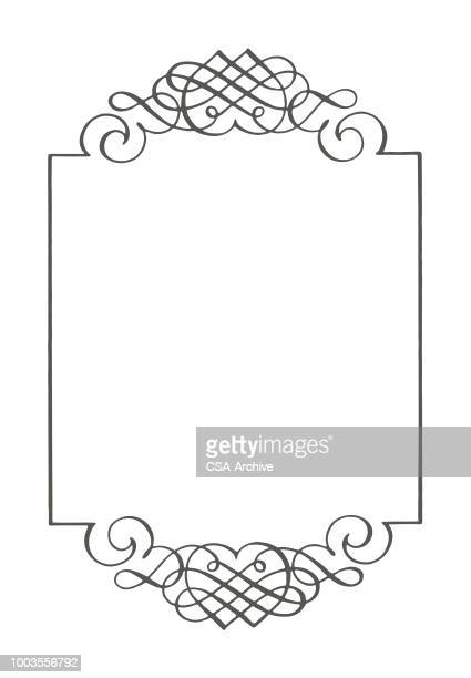 scroll border - filigree stock illustrations