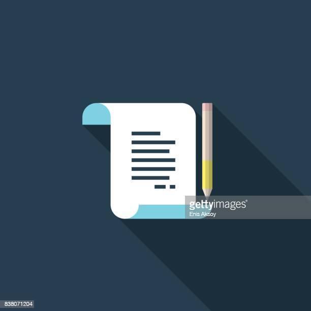 Scroll Flat Icon