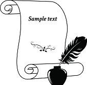 Scroll paper.