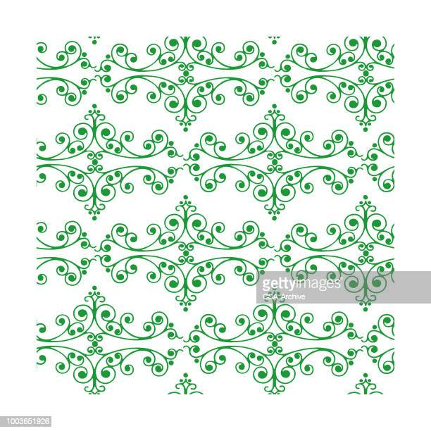 scroll pattern - filigree stock illustrations
