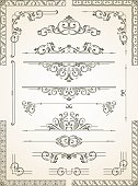 Scroll with intricate ethnic designs and border on it