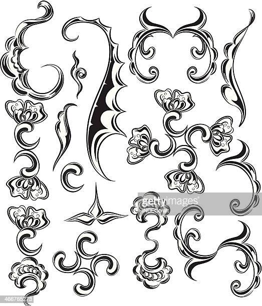 scroll_design elements - scrollen stock illustrations